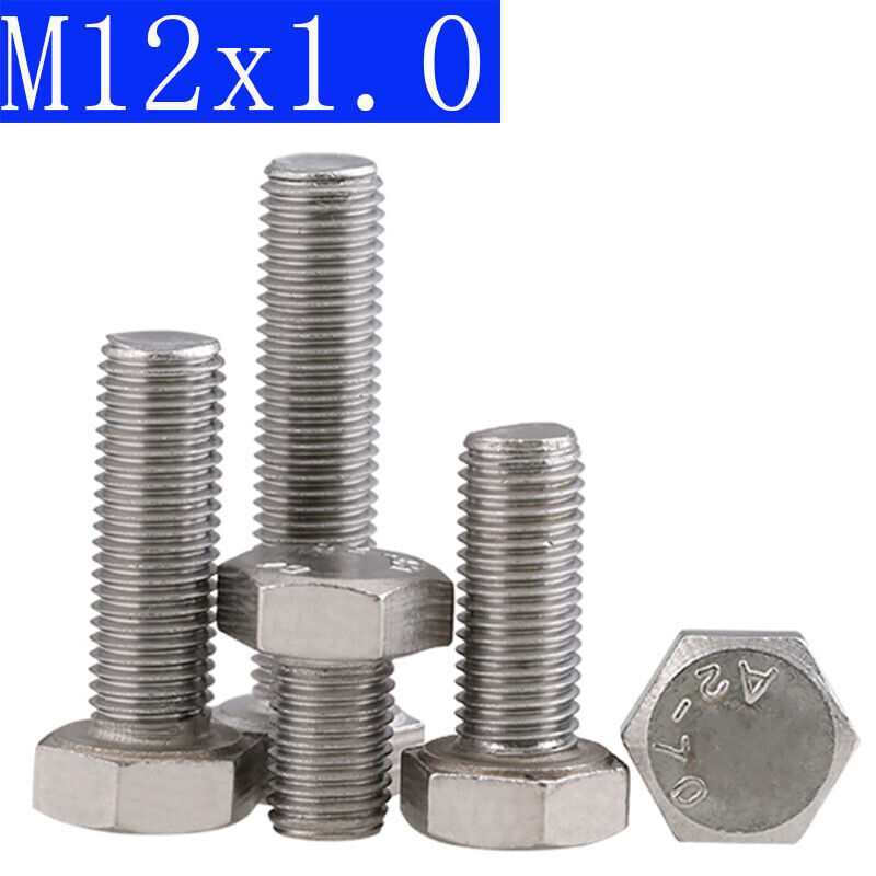 M16 X 100 Hex Head Set Screws Fully Thread Bolts A2 stainless DIN 933-1 pack