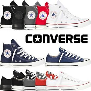 Converse All Star Chuck Taylor Mens Womens Unisex High Hi Lo Tops ... d09bafb37