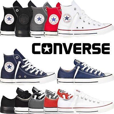 7c64c8eae4de Converse All Star Chuck Taylor Mens Womens Unisex High Hi Lo Tops Trainers  Pumps