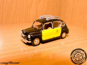 SEAT-800-Fiat-1-43-BARCELONA-TAXI-CAB-1965-Rara