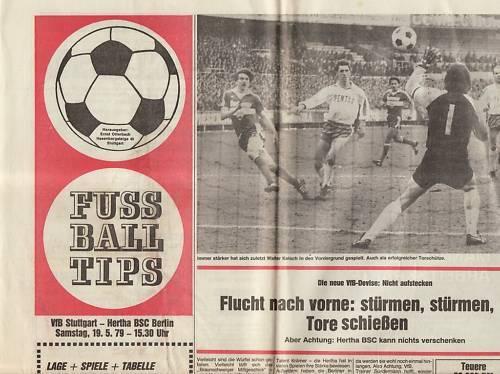 BL 78/79  VfB Stuttgart Fußball Hertha BSC Berlin