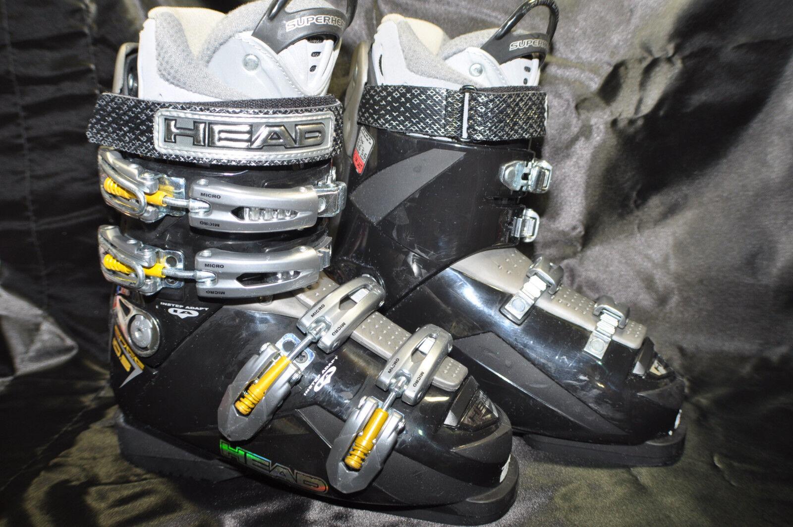 Women's  HEAD  Edge  Ski Boots  Used Size Mondo 24.5  285MM Insole 21.5  cm