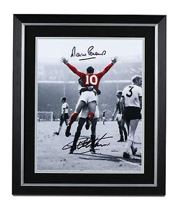 Geoff-Hurst-amp-Martin-Peters-Signed-Large-Photo-England-1966-Framed-Autograph-COA