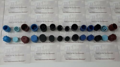 28 AC Caps Hi Low Side Charging Port Service Caps R134 R12  Any Car GM Ford ....