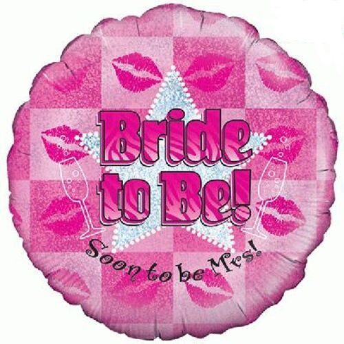 """Hen Party Learner Plate Pink and Silver Girls Night Out 18/"""" Helium Foil Balloon"""