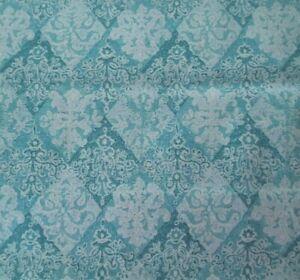 Cloisonne-BTY-Unbranded-Aqua-Teal-White-Diamond-Damask-Print