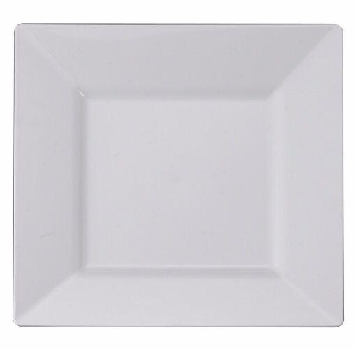 120 Ct Blanc Jetables Plaques Carrées & Bols Look Réel  Mariage  spécial