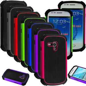 Hybrid-Impact-Rubber-Matte-Hard-Case-Cover-For-Samsung-Galaxy-S3-Mini-III-i8190