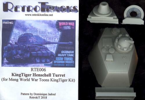 RetroKits Models KING TIGER HENSCHEL TURRET for Meng World War Toons Kit