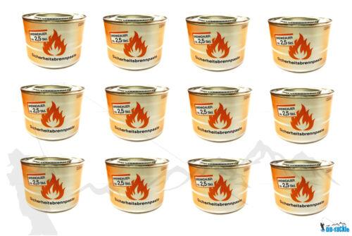 12 x Brennpaste für Tischräucherofen Speisenwärmer Buffet Sicherheitsbrennpaste