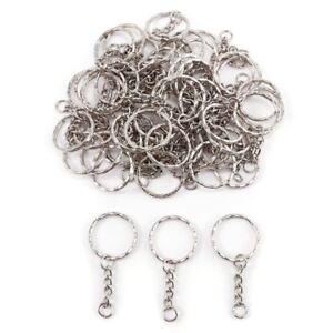 50x-Anneau-25mm-pour-porte-cles-porte-clefs-chaine-30mm-metal-argente-bijoux-ey