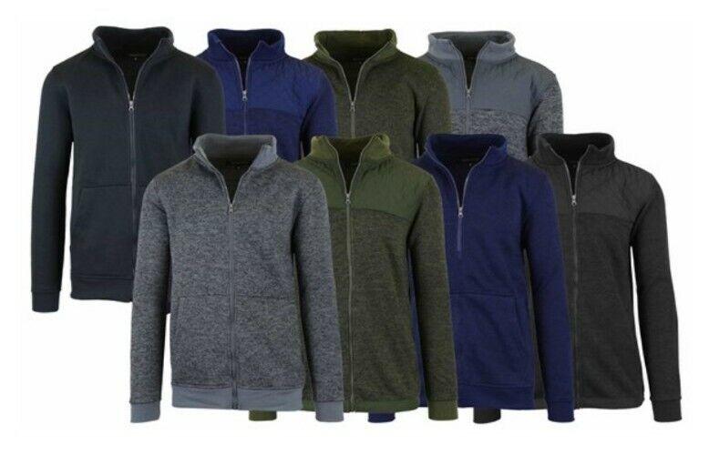 3PK Men's or Women's Asst Marled Fleece Zip Sweaters $29.99