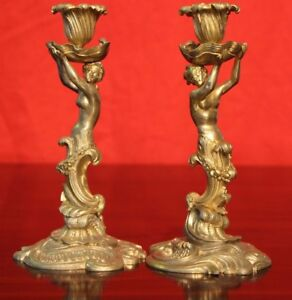 Antique French Rococo Gold Gilt Bronze