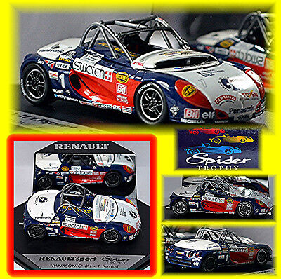 Automotive 2019 New Style Renault Spider Panasonic T.rustad #1 Renault Sport Spider Trophy 1:43 Cars