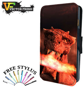 9f04bbcdce Image is loading FIRE-BREATHING-MYTHICAL-RED-DRAGON-Leather-Flip-Wallet-