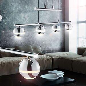 Das Bild Wird Geladen LED Luxus Chrom Kugel Pendel Leuchte Wohnzimmer Lampe