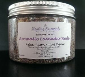 Lavender Buds Highly Aromatic Dried Flowers/ Petals - Botanicals 50g Jar