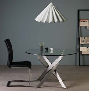 Das Bild Wird Geladen Design Esstisch Kuechentisch Glastisch Esszimmertisch  120cm Rund Tisch