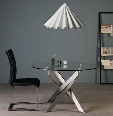 Design esstisch k chentisch glastisch esszimmertisch 120cm for Designer esstisch edelstahl