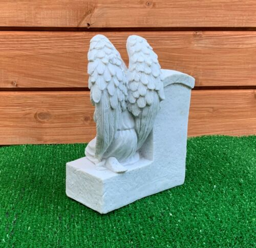 Angel by Headstone for for Husband  Grave Cemetery Memorial Ornament