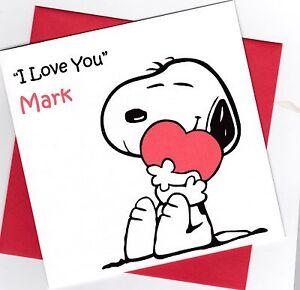 Personalised Handmade Snoopy Valentine Card Ebay