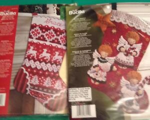 Bucilla Christmas Stocking Kits.Details About Oop Bucilla Christmas Felt 18 Stocking Kits Candy Angel Sweater Knit Stockings