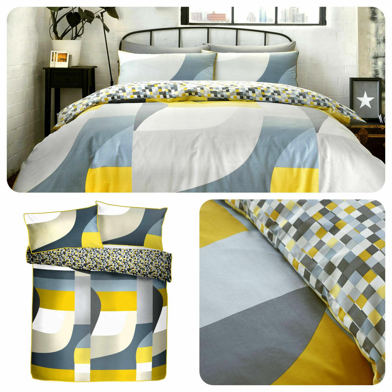 Racing Grün Reversible Kink Multicolour Duvet Quilt Cover Bedding Set. S D K SK