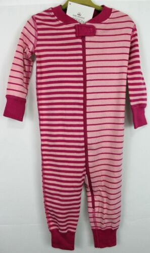 Hanna Andersson Pink Mix Stripe Sleeper Pajamas Organic Cotton Size 60 3-6 Nwt