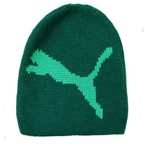 PUMA Chunky Cat Beanie Hat Green Unisex One Size Fits All Men s ... 4b19ddaace2