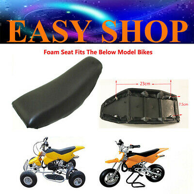 Black Foam Seat For 47cc 49cc Kids Mini Pit Dit Trail Bikes ATV Quad