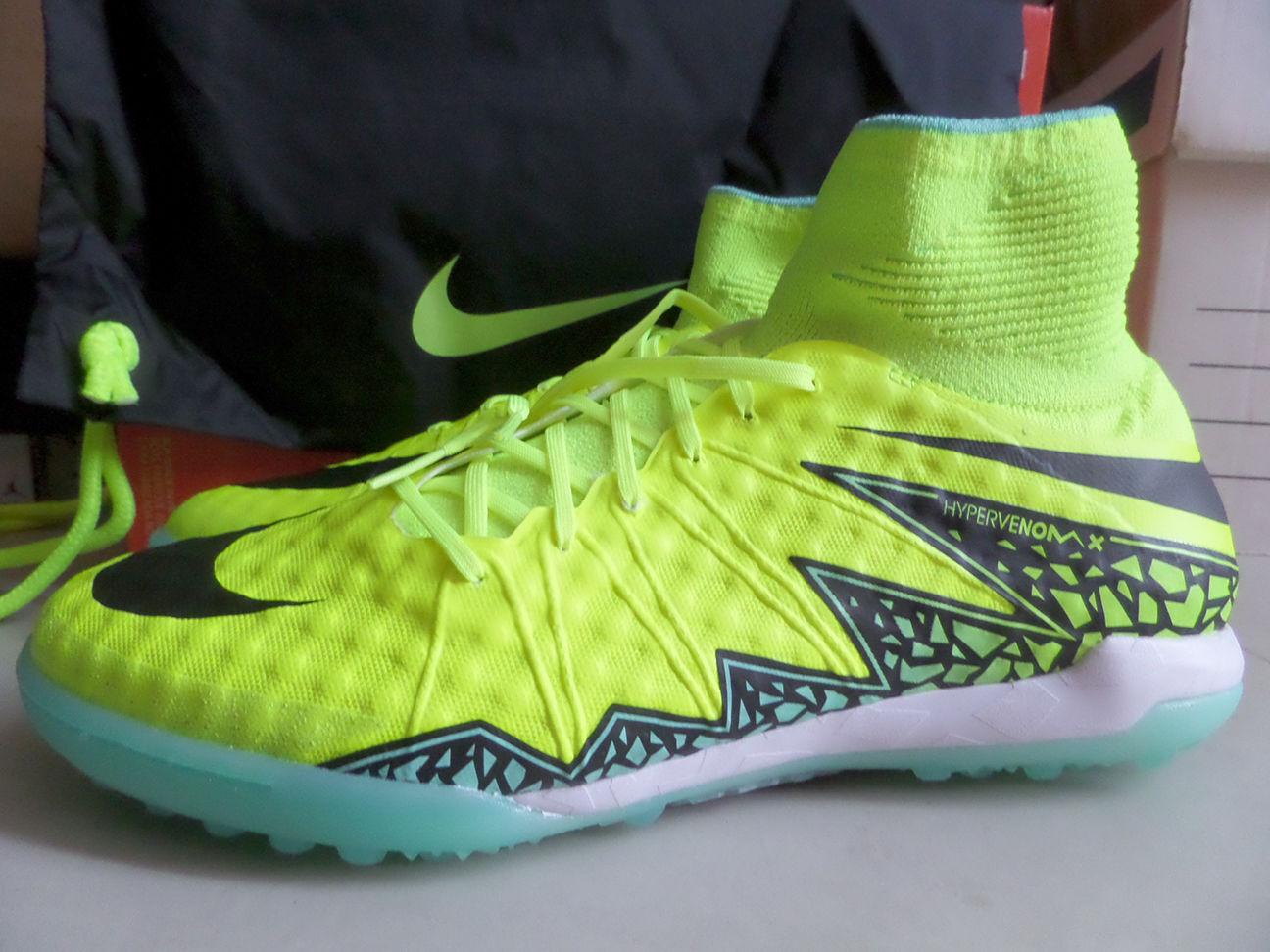 Nike hypervenomx proximo tf taglia 12 uomini territorio scarpe 747484-700 volt