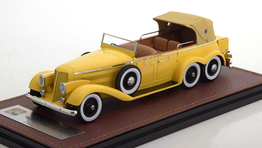 HISPANO SUIZA H6A VICTORIA TOWN CAR CLOSED 1923 YELLOW GLM 43215001 1 43 RESINE