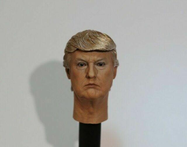 "1//6 President Donald Trump Head Sculpt For 12/""Hot Toys PHICEN TBLeague Figure"