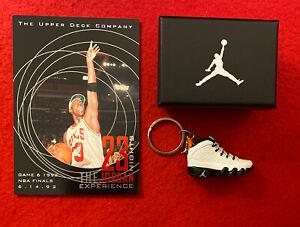 1997 Michael Jordan UD 23 Nights Jumbo Card #14 & Sneaker Keychain w/ Box