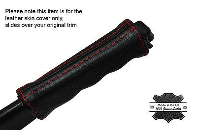 RED STITCHING LEATHER E BRAKE HANDLE SKIN COVER FITS JEEP WRANGLER TJ 97-02