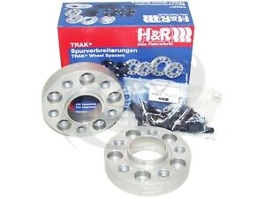 H/&R 25mm Silver Bolt On Wheel Spacers for 2000-2006 BMW X5