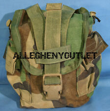 USGI Military 1QT MOLLE Woodland Camo 1 QUART CANTEEN COVER Carrier Pouch NICE