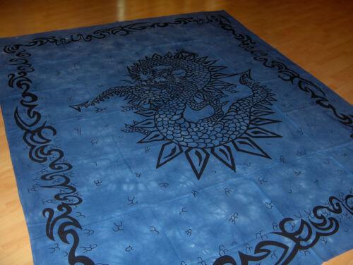 Tuch celtic,gohtic mittelalter in blau Drachen Tagesdecke