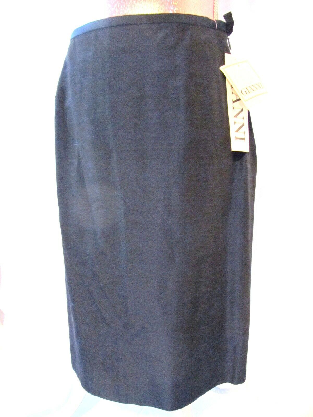Gianni skirt Sapphire bluee pencil straight shimmer sexy knee lined S 6  NWT