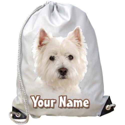 Sac de danse-Cadeau Piscine West highland terier chien chiot personnalisé Gym