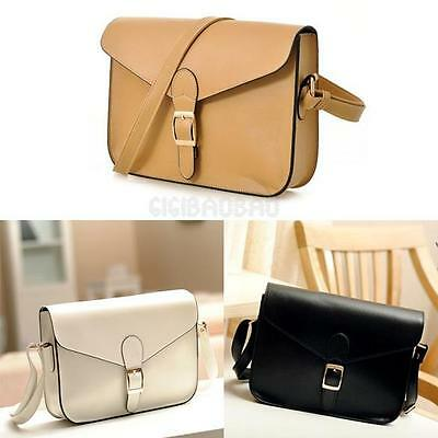 Women Girl Fashion Satchel PU Leather Handbag Messenger Shoulder Bag Tote Purse