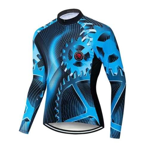 Men/'s Reflective Cycling Jersey Long Sleeve Cycle Gear Bike Jersey Shirt S-5XL