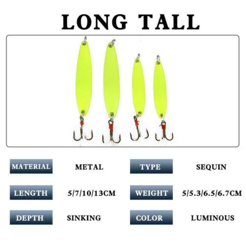 Luminous Trout Spoon Metal Fishing Lures Spinner Baits Tackle Hooks Bass T8J3