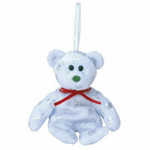 FLAKES the Bear 5 inch TY Jingle Beanie Baby - MWMTs Holiday Ornament Toy