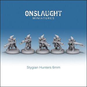 Epic 40k Warriors Drukhari Dark Eldar Stygian Stygian Hunters 6mm Onslaught