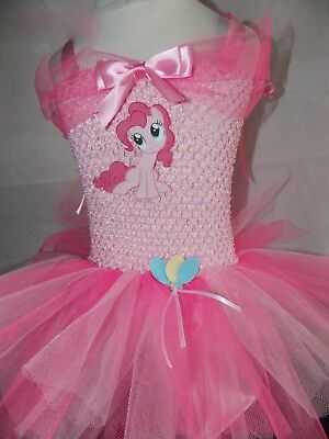 Inspired Pinkie Pie Pink Sparkly My Little Pony Tutu Dress Handmade Age 3-10