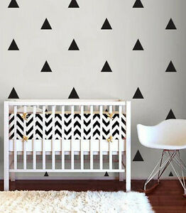 Triangle Shape Wall Stickers RED Decal Child Vinyl Decor triangles Baby Nursery