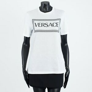 VERSACE-350-White-Cotton-Sustainable-90s-Vintage-Logo-Print-T-Shirt