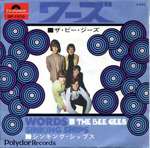 The-Bee-Gees-7-034-Words-Sinking-Ships-Japan-Polydor-DP-1570-1968