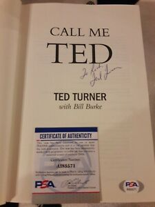 Ted Turner Call Me Ted Signed 1ST EDITION  CNN TNT TBS ATLANTA BRAVES PSA DNA